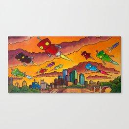 Robot - Air Traffic Canvas Print