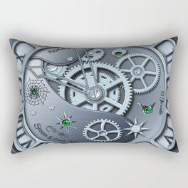 Steampunk clock silver Rectangular Pillow