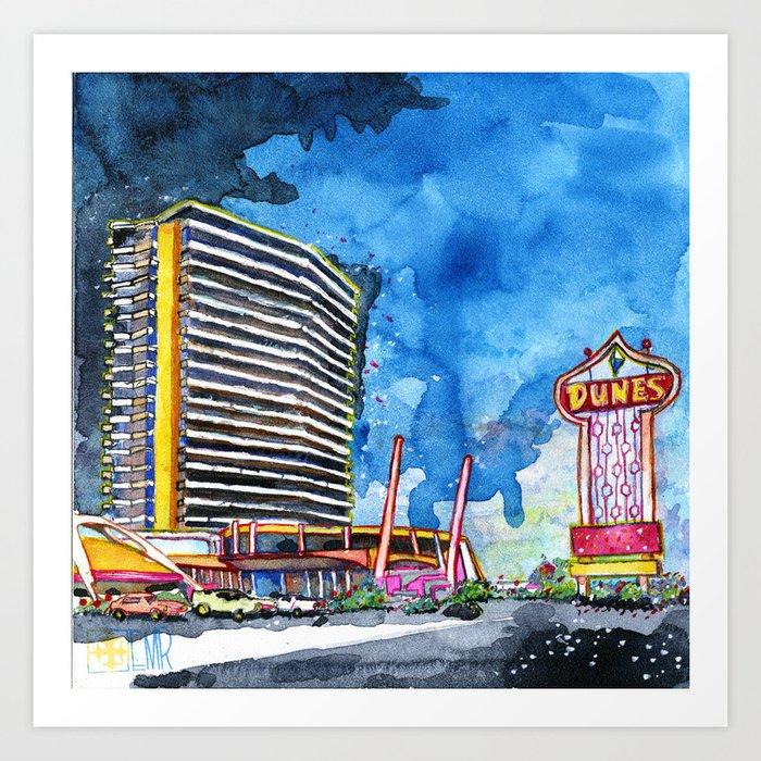 The Dunes - Vegas Classic Art Print by artandarchitect | Society6