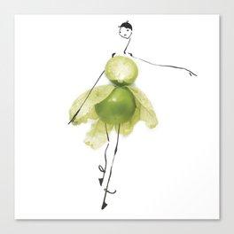 Edible Ensembles: Green Tomatillo Canvas Print