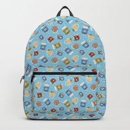 Cozy Mugs - Bg Blue Wood Backpack