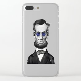 Abraham Lincoln (Steampunk) Clear iPhone Case