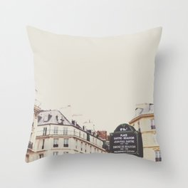 Place Sartre Beauvoir Throw Pillow