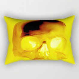 Yellow Skull Rectangular Pillow