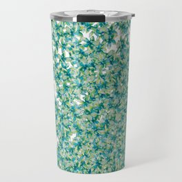 Blue and Yellow Forget Me Knots Travel Mug