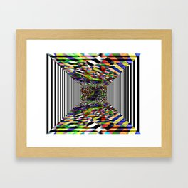 Colorblock box Framed Art Print