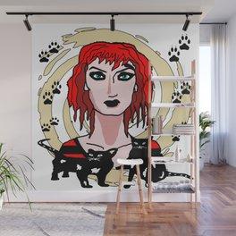 The Cat Enchantress Wall Mural