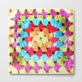 Crochet rainbow Metal Print
