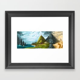 An Ancient Land Framed Art Print