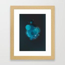 blau trilato Framed Art Print