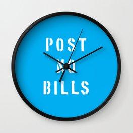 Post No Bills Wall Clock