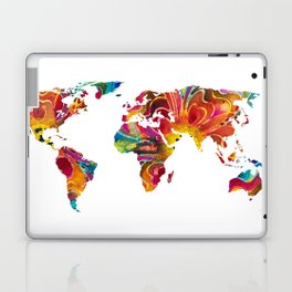 Map of The World 2 -Colorful Abstract Art Laptop & iPad Skin