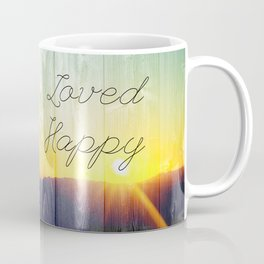 Blessed, Loved, Inspired, Happy Coffee Mug
