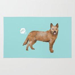 Australian Cattle Dog red heeler funny fart dog breed gifts Rug
