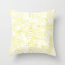 Bright Tropical Island Limelight Throw Pillow