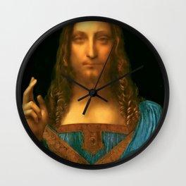 """Leonardo da Vinci """"Salvator Mundi"""" Wall Clock"""