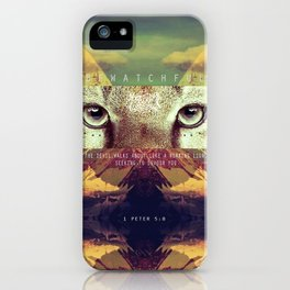 BE WATCHFUL iPhone Case