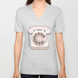 Phone Call Unisex V-Neck