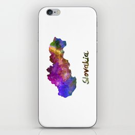 Slovakia in watercolor iPhone Skin