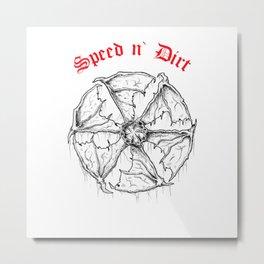 Speed and Dirt Metal Print