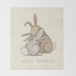Hugs Bunnies Throw Blanket