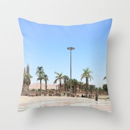 Temple of Luxor, no. 17 Throw Pillow