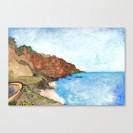 Playa del Socorro, Los Realejos, Tenerife Canvas Print