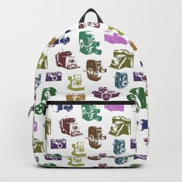 Vintage Multicolor Cameras Backpack