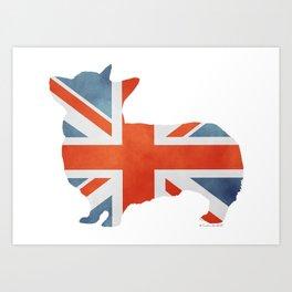 Union Jack Corgi Art Print