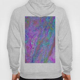 Pink Turquoise Pour Hoody