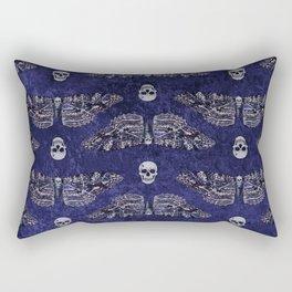 Deathshead Moth and Skulls Rectangular Pillow