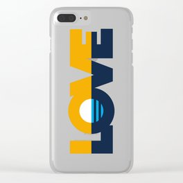 LOVE - People's Flag of Milwaukee Clear iPhone Case