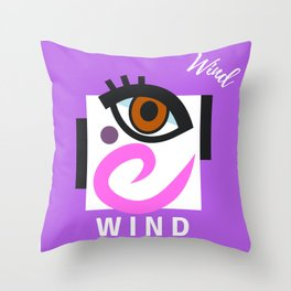 """"""" Carry On, W I N D """" Throw Pillow"""