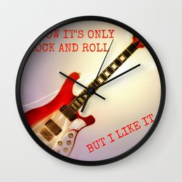 Only Rock + Roll Wall Clock