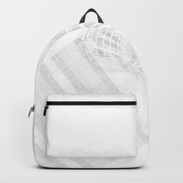 Explorer White and Grey Backpack