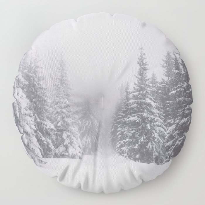 Winter walk - Landscape and Nature Photography Floor Pillow