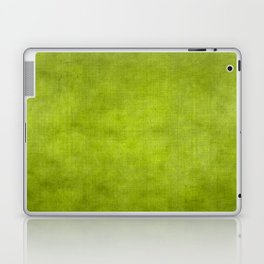 """Summer Fresh Green Garden Burlap Texture"" Laptop & iPad Skin"