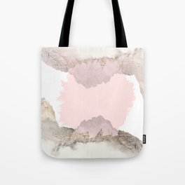 Pale Pink on Mountains Tote Bag