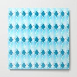 Glass-effect blue pattern Metal Print