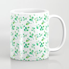Watercolor green leaves - botanical pattern Coffee Mug