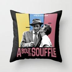 A Bout de Souffle Throw Pillow