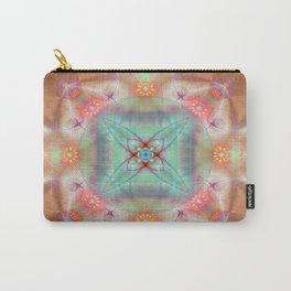Fractal Art- Mint Art-Coral Art- Juorbin- Sacred Geometry Carry-All Pouch