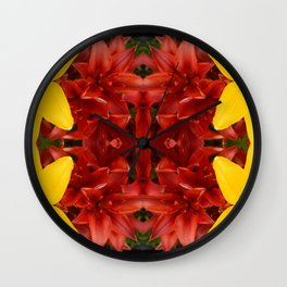 """""""A Gathering of Lilies"""" Remix - 3 (2-1) [D4468~49] Wall Clock"""