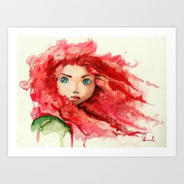Brave - Merida Art Print