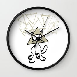 minima - pyramid cat Wall Clock
