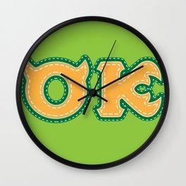 Monster University Fraternity : Oozma Kappa Wall Clock