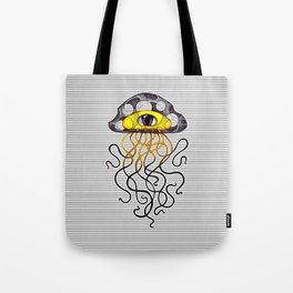 Yellow Jellyfish Tote Bag