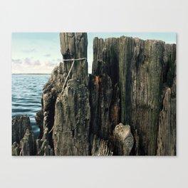 Kitty Hawk Bay Crabbing Wall Canvas Print