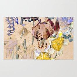 "Charles Rennie Mackintosh ""Flowers & Plants"" (4) Rug"