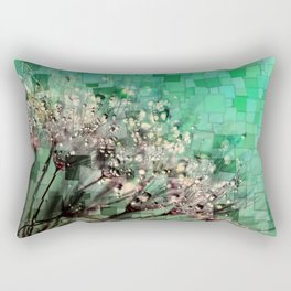 Fresh Dandelions Mosaic Rectangular Pillow